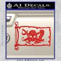 Molly Roger Pirate Flag INT Decal Sticker Red Vinyl 120x120