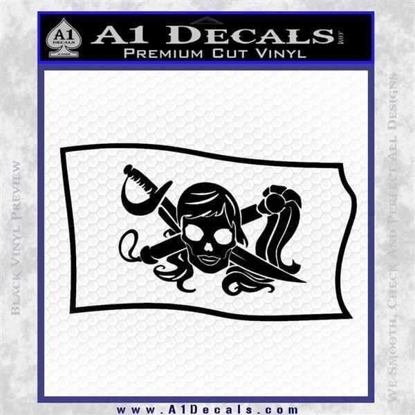 Molly Roger Pirate Flag SL Decal Sticker Black Logo Emblem