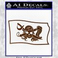 Molly Roger Pirate Flag SL Decal Sticker Brown Vinyl 120x120