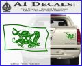 Molly Roger Pirate Flag SL Decal Sticker Green Vinyl 120x97