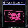 Molly Roger Pirate Flag SL Decal Sticker Hot Pink Vinyl 120x120