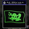 Molly Roger Pirate Flag SL Decal Sticker Lime Green Vinyl 120x120