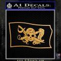 Molly Roger Pirate Flag SL Decal Sticker Metallic Gold Vinyl 120x120