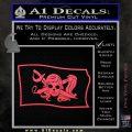 Molly Roger Pirate Flag SL Decal Sticker Pink Vinyl Emblem 120x120