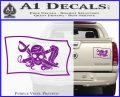 Molly Roger Pirate Flag SL Decal Sticker Purple Vinyl 120x97