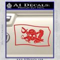 Molly Roger Pirate Flag SL Decal Sticker Red Vinyl 120x120