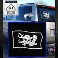 Molly Roger Pirate Flag SL Decal Sticker White Emblem 120x120