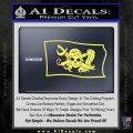 Molly Roger Pirate Flag SL Decal Sticker Yelllow Vinyl 120x120