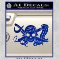 Molly Roger Whip Sword Crossbones Decal Sticker Blue Vinyl 120x120