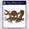 Molly Roger Whip Sword Crossbones Decal Sticker Brown Vinyl 120x120