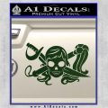 Molly Roger Whip Sword Crossbones Decal Sticker Dark Green Vinyl 120x120