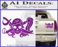 Molly Roger Whip Sword Crossbones Decal Sticker Purple Vinyl 120x97