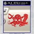 Molly Roger Whip Sword Crossbones Decal Sticker Red Vinyl 120x120