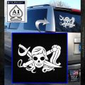 Molly Roger Whip Sword Crossbones Decal Sticker White Emblem 120x120