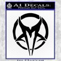 Mudvayne Logo Band Decal Sticker Black Logo Emblem 120x120