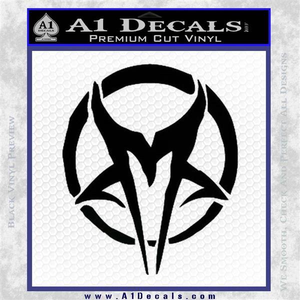 Mudvayne Logo Band Decal Sticker Black Logo Emblem