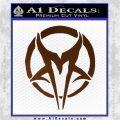 Mudvayne Logo Band Decal Sticker Brown Vinyl 120x120