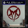 Mudvayne Logo Band Decal Sticker Dark Red Vinyl 120x120