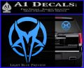Mudvayne Logo Band Decal Sticker Light Blue Vinyl 120x97