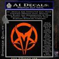Mudvayne Logo Band Decal Sticker Orange Vinyl Emblem 120x120