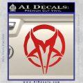 Mudvayne Logo Band Decal Sticker Red Vinyl 120x120