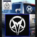 Mudvayne Logo Band Decal Sticker White Emblem 120x120