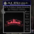 Never Forget 911 Decal Sticker RB Pink Vinyl Emblem 120x120