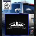 Never Forget 911 Decal Sticker RB White Emblem 120x120