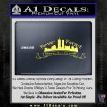 Never Forget 911 Decal Sticker RB Yelllow Vinyl 120x120