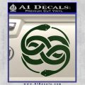 Neverending Story Auryn Decal Sticker Dark Green Vinyl 120x120