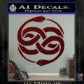 Neverending Story Auryn Decal Sticker Dark Red Vinyl 120x120