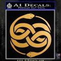 Neverending Story Auryn Decal Sticker Metallic Gold Vinyl 120x120