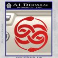 Neverending Story Auryn Decal Sticker Red Vinyl 120x120