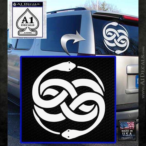 Neverending Story Auryn Decal Sticker White Emblem