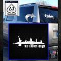 New York Skyline Silhouette Sticker White Emblem 120x120