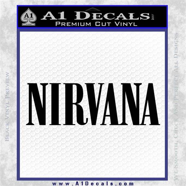 Nirvana Decal Sticker TXT Black Logo Emblem