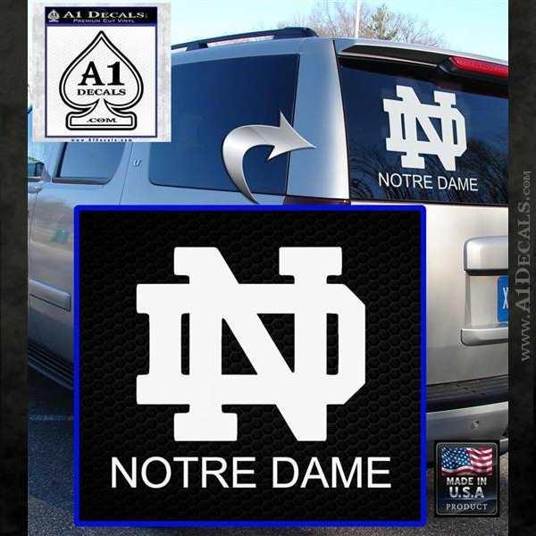 Notre Dame NCAA Gold Reflective 3D Decal Sticker Emblem