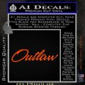 Outlaw Decal Sticker Script Orange Vinyl Emblem 120x120