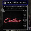 Outlaw Decal Sticker Script Pink Vinyl Emblem 120x120