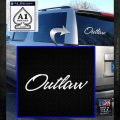 Outlaw Decal Sticker Script White Emblem 120x120