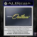 Outlaw Decal Sticker Script Yelllow Vinyl 120x120