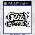 Ozzy Osbourne Decal Sticker Black Vinyl 120x120