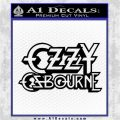 Ozzy OzbourneTXTS Decal Sticker Black Logo Emblem 120x120
