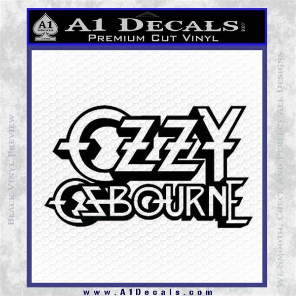 Ozzy OzbourneTXTS Decal Sticker Black Logo Emblem