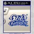 Ozzy OzbourneTXTS Decal Sticker Blue Vinyl 120x120