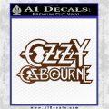 Ozzy OzbourneTXTS Decal Sticker Brown Vinyl 120x120
