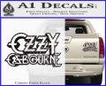 Ozzy OzbourneTXTS Decal Sticker Carbon Fiber Black 120x97