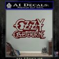 Ozzy OzbourneTXTS Decal Sticker Dark Red Vinyl 120x120