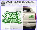 Ozzy OzbourneTXTS Decal Sticker Green Vinyl 120x97