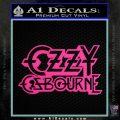 Ozzy OzbourneTXTS Decal Sticker Hot Pink Vinyl 120x120